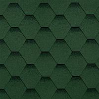 Битумная черепица Шинглас Кадриль Соната (Зеленый)