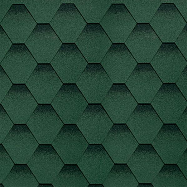 Битумная черепица Shinglas (Шинглас) Ультра Самба Малахит (Зеленый)
