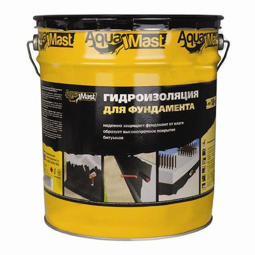 Мастика битумная для фундаментов AquaMast (18 кг)