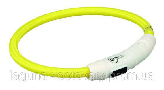 TX-12690ошейник светящийся(USB)35см/ø 7мм,жёлтый