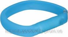 TX-12680ошейник светящийся (USB)35см/18мм, синий