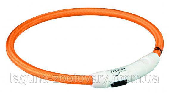 TX-12703ошейник светящийся(USB)35см/ø 7мм,оранж, фото 2