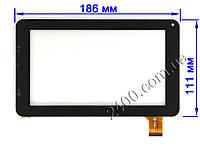 Сенсор (тачскрин) для планшета Assistant AP-715 черный 186*111 мм