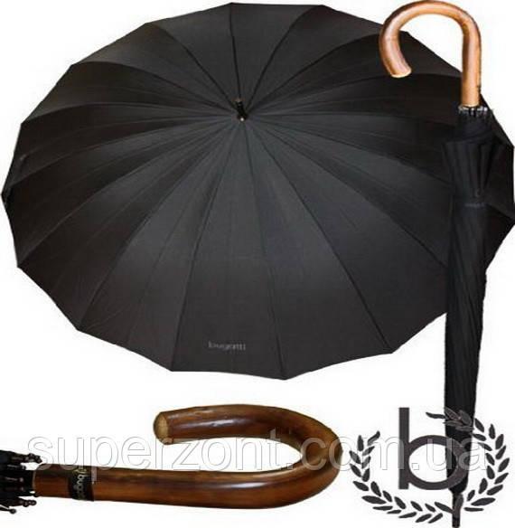 Зонт-трость мужской, механика Doppler Bugatti 71763 001BU с большим куполом