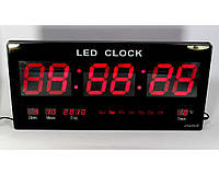 Электронные часы для дома CW 4600: напряжение 5VAC, красный, 46x33x4 см, температура, 12/24, 220 В