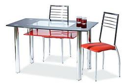 Кухонный стол стеклянный Signal TWIST A