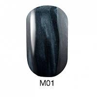 Гель-лак для ногтей 6 мл Naomi Gel Polish Metallic Collection M01