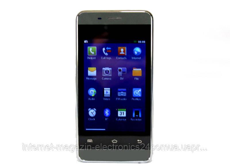"""Мобильный телефон 802 3.5"""" Black емкостный экран - Интернет магазин Electronics24 в Одессе"""