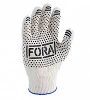 Перчатки FORA с ПВХ точкой