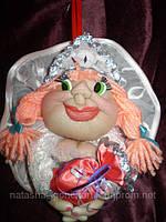 """""""Кукла на удачу"""" снегурочка"""