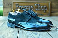 Мужские кожаные туфли броги Florentino, made in Italy.
