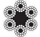 Трос (канат) стальной черный в смазке ISO 2408 (6X24)