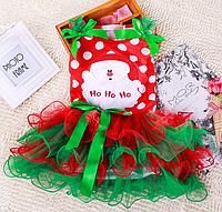 Трикотажні, новорічні сарафанчики для дівчаток