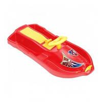 Сани детские с рулем и тормозами SNOW FORMULE Plastkon красный