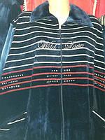 Нарядный велюровый халат больших размеров, фото 1