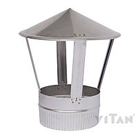 Зонт вентиляционный 100 мат одностенный