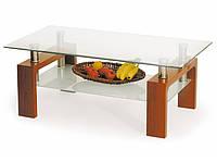 Журнальный столик Halmar Diana вишня со стеклянной столешницей