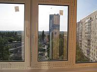 Утепление косого балкона в 9-ти этажке. Балконная рама из профиля Ruhau-60