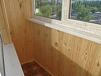 Утепление косого балкона в 9-ти этажке. Балконная рама из профиля Rеhau-60