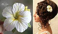 """""""Солнечные тропики"""" заколка для волос  цветок ручной работы. Украшения из полимерной глины, фото 1"""