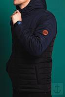 Куртка зимняя, парка, мужская,черный + синий, зима - 25 градусов, очень теплая! Супер качество!