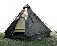 Палатка четырёхместная пирамида MilTec Tipi Oliv 14227000
