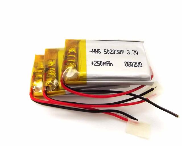 батарея 502030 250 mAh на видеорегистратор