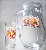 80119 Набор для сока Лилия(кувшин +стаканы)