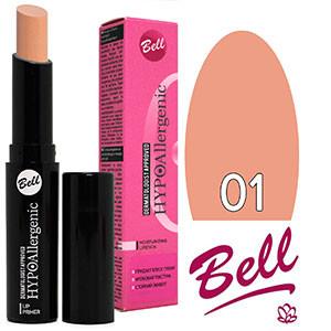 Bell HypoAllergenic Губная помада Moisturizing Lip Primer (гипоалл.) Тон №01 nude, матовая