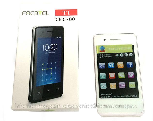 Мобильный телефон T1 Facetel Andr. 3.5'' 1н (50) - Интернет магазин Electronics24 в Одессе