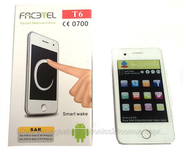 Мобильный телефон T6 Facetel Andr. 3.5'' 1н (50) - Интернет магазин Electronics24 в Одессе