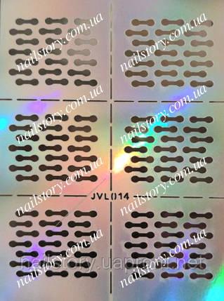 Виниловый трафарет для аэропуффинга и дизайна ногтей №14, фото 2
