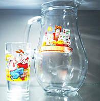80119 Набор для сока Украинская тематика(кувшин +стаканы)