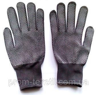 Перчатки с ПВХ- точкой (нейлоновые серые)