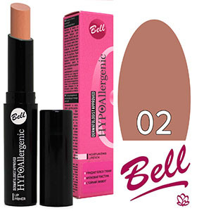 Bell HypoAllergenic Губная помада Moisturizing Lip Primer (гипоалл.) Тон №02 natural, матовая