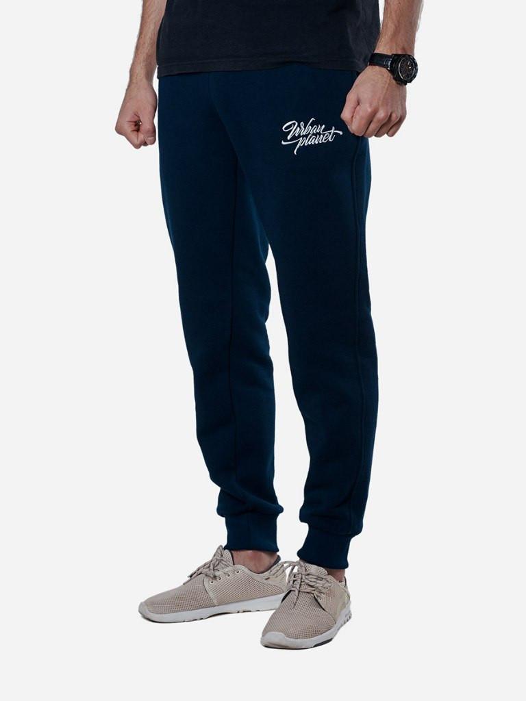 Спортивные штаны теплые Urban Planet Type NVY, фото 1
