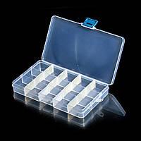 Пластиковый бокс для хранения принадлежностей мастера, 15 секций