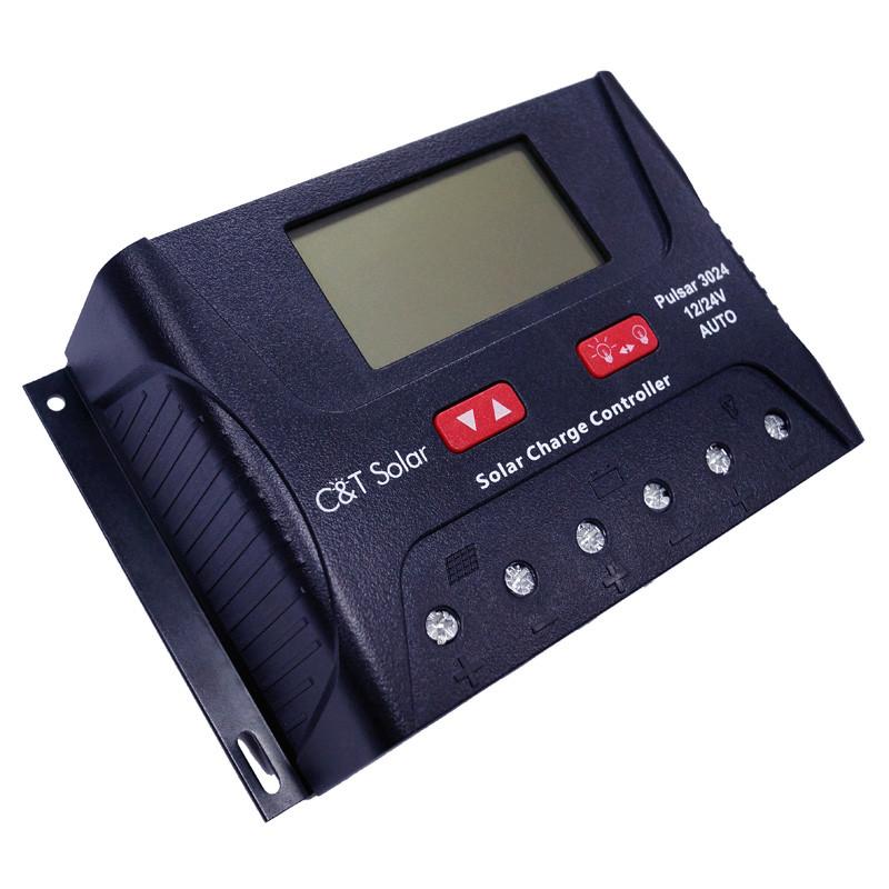 Контроллер заряда C&T Solar Pulsar 3024 (30А 12\24В)