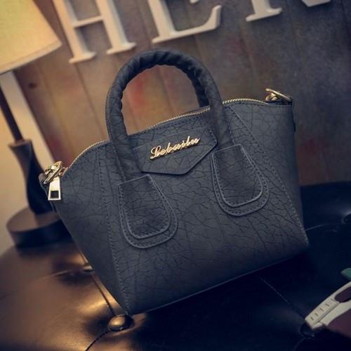 Маленькая женская сумка Le bailu темно серая