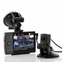 Видеорегистратор автомобильный I3000 с выносной камерой заднего вида    f