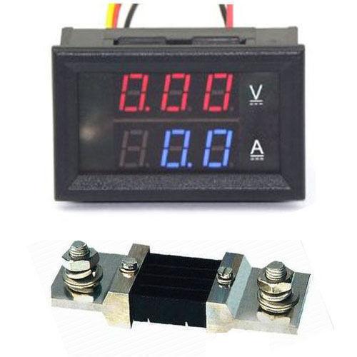 Цифровой амперметр-вольтметр, 100В, 500А