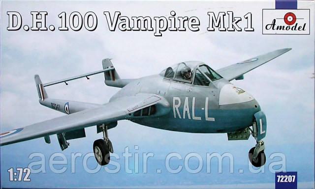 D.H.100 Vampire Mk1 1/72 AMODEL 72207