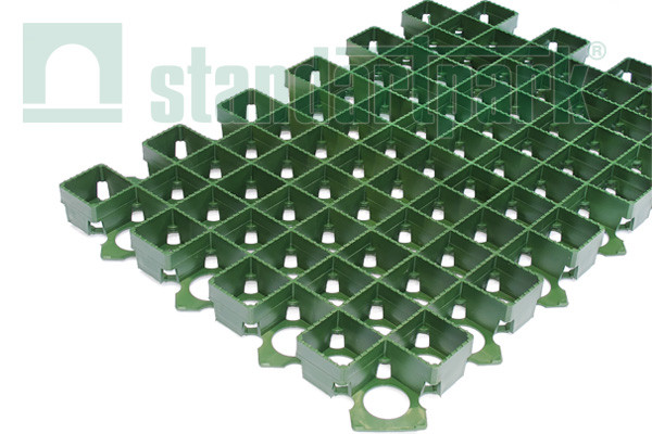 Решетка газонная РГ-60.40.3,8 пластиковая зеленая