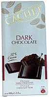 Шоколад черный CACHET Dark Chocolate (57% Какао) 100г.
