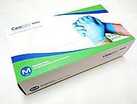 Перчатки голубого цвета из нитрила неопудренные Care365. Размеры: S/M/L упаковка 100 шт. LDV/ 08-3