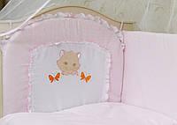 Детский комплект постельного белья в кроватку Котик