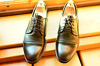 Мужские кожаные туфли Florentino, темно-вишневые  made in Italy.