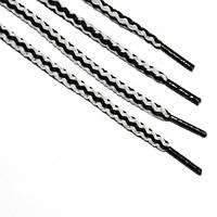 Шнурок 5 мм круглый бело черный 120 см