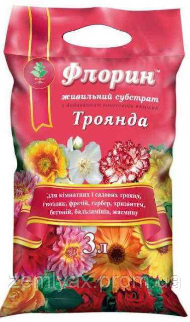 "Субстрат ""Флорин"" 3 л, для роз"