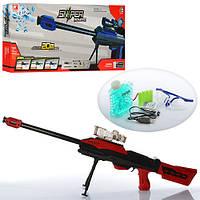 Детский игрушечный автомат 7029, аккум, 85см, водяные пули, очки, USB зарядное, в кор-ке, 71,5-28-6,5см